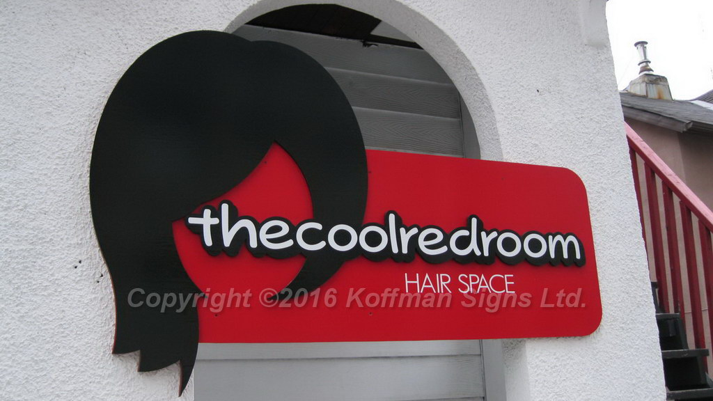 The Cool Red Room Exterior signage