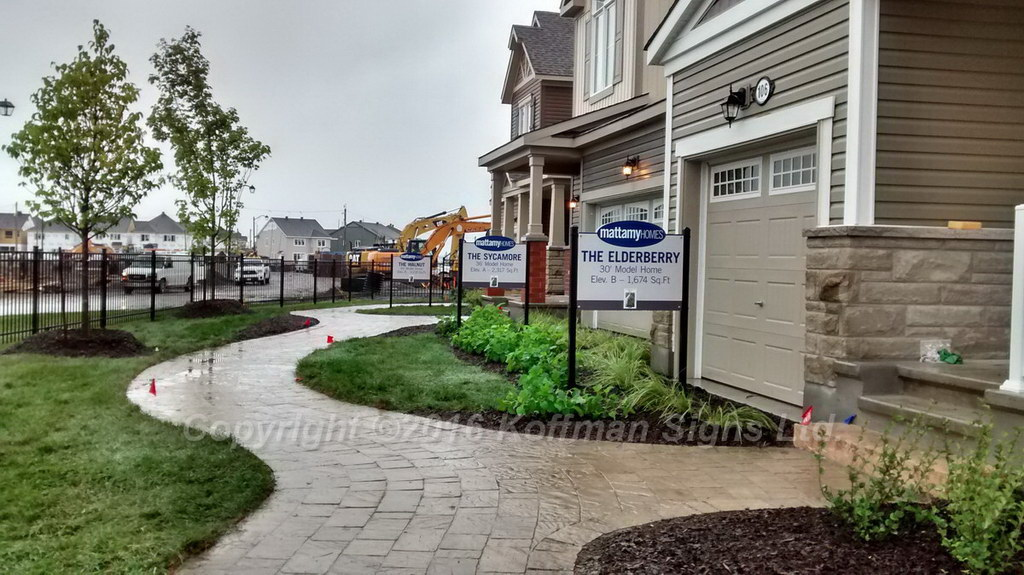 Model Home informational signs